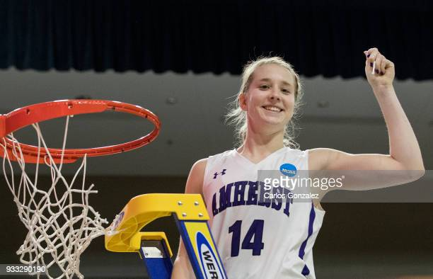 Emma McCarthy of Amherst College was awarded tournament Most Outstanding Player at the Division III Women's Basketball Championship held at the Mayo...