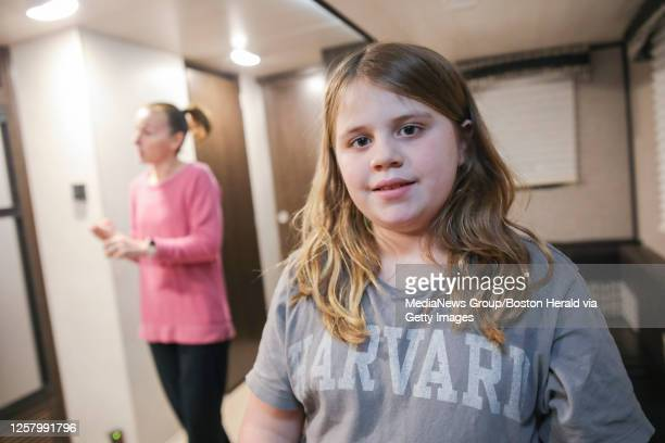 Emma McDonough and her mother Desiree inside the trailer Columbia Gas has extended their usage of in an effort to help Emma's autism, on Wednesday,...