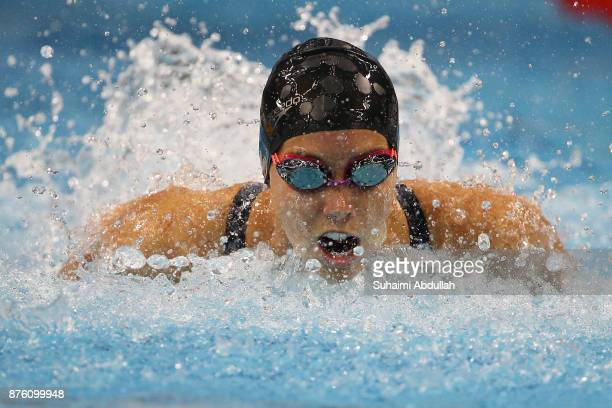 Emma McKeon of Australia competes in the women's 50m Butterly heat during the FINA Swimming World Cup at OCBC Aquatic Centre on November 19 2017 in...