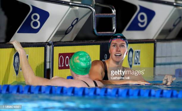 Emma McKeon of London Roar during Day Two of the International Swimming League at Aquatics Centre on November 24 2019 in London England