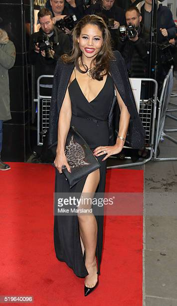 Emma McQuiston arrives for the UK premiere of 'Criminal' at The Curzon Mayfair on April 7 2016 in London England