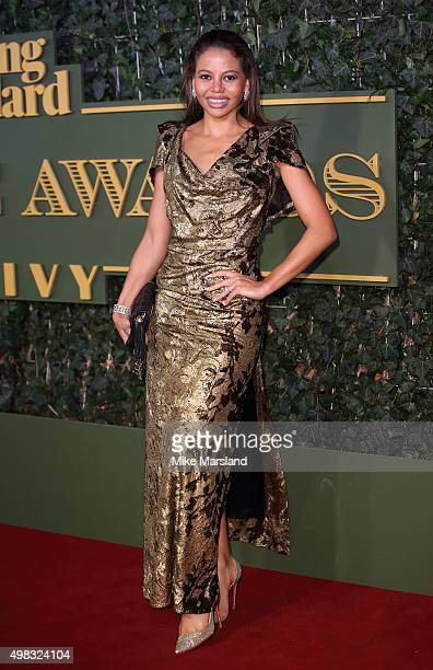 Emma McQuiston attends the Evening Standard Theatre Awards at The Old Vic Theatre on November 22 2015 in London England