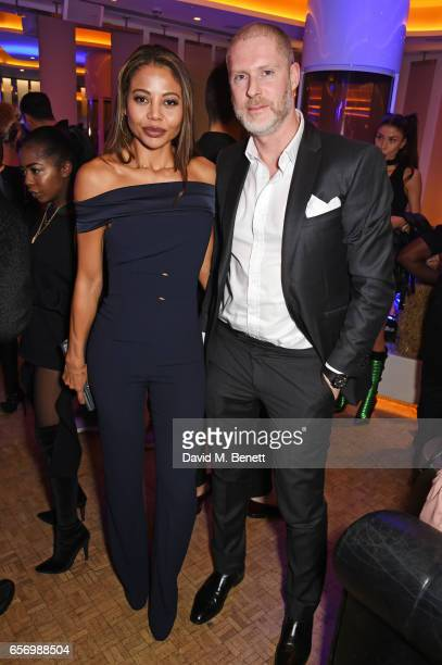 Emma McQuiston Viscountess of Weymouth and JeanDavid Malat attend the launch of the JF London x Kyle De'Volle fall/winter 2017 capsule collection...