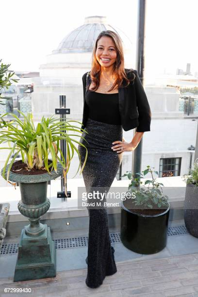 Emma McQuiston, Viscountess of Weymouth, attends Sarah Sands' leaving party hosted by The Evening Standard on the rooftop at Ned's Club Upstairs,...