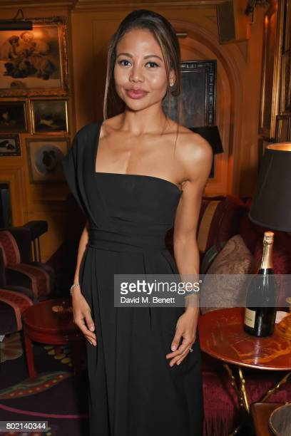 Emma McQuiston Viscountess of Weymouth attends the Rita Ora dinner and performance at Annabel's on June 27 2017 in London England