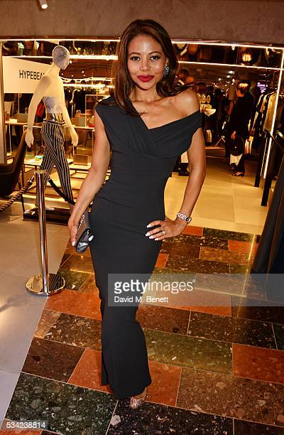 Emma McQuiston Viscountess Weymouth attend the London Evening Standard Londoner's Diary 100th Birthday Party in partnership with Harvey Nichols at...