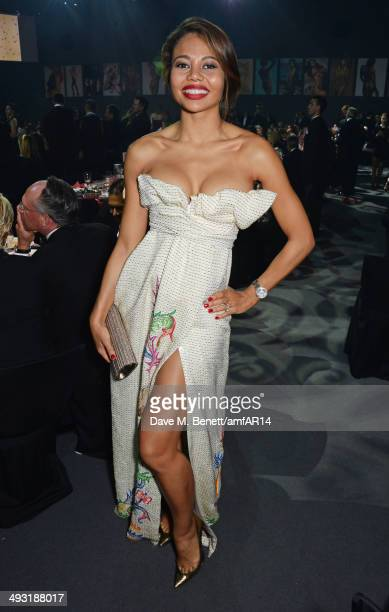 Emma McQuiston Viscountess Weymouth attends amfAR's 21st Cinema Against AIDS Gala presented by WORLDVIEW BOLD FILMS and BVLGARI at Hotel du...