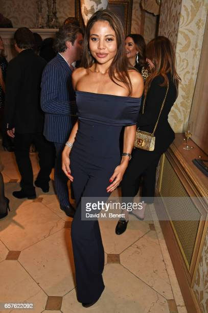 Emma McQuiston Viscountess Weymouth attends Lisa Tchenguiz's party hosted by Fatima Maleki in Mayfair on March 24 2017 in London England