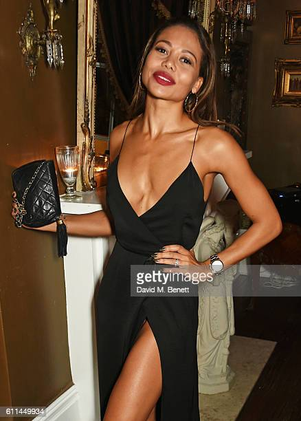 Emma McQuiston Viscountess Weymouth attends the JF London x Kyle De'Volle VIP dinner at Beach Blanket Babylon on September 29 2016 in London England
