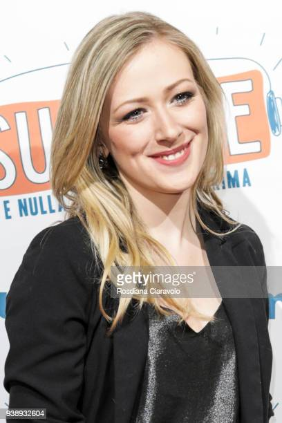 Emma Mezzadri attends 'Succede' photocall on March 27 2018 in Milan Italy