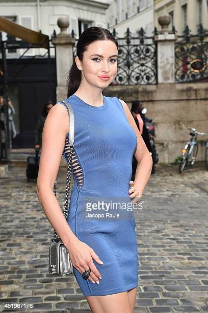 Emma Miller arrives at Zuhair Murad show as part of Paris Fashion Week Haute Couture Fall/Winter 20142015 on July 10 2014 in Paris France