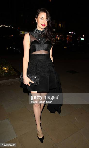 Emma Miller attending the Chanel Exhibition Party at the Saatchi Gallery on October 12 2015 in London England