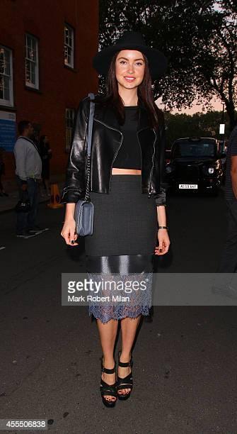 Emma Miller attending the Tom Ford Women's s/s 2015 catwalk show on September 15 2014 in London England