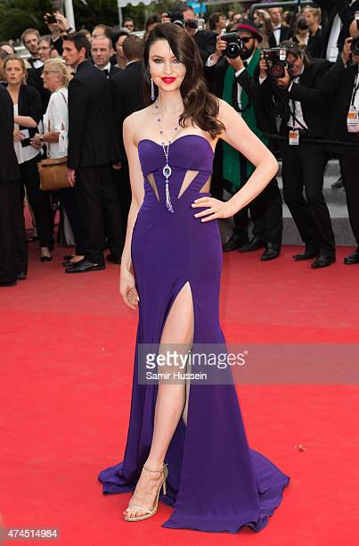 Emma Miller attends the 'Macbeth' Premiere during the 68th annual Cannes Film Festival on May 23 2015 in Cannes France