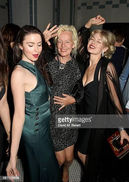 Emma Miller Ellen von Unwerth and Gia Genevieve attend the Hunger Magazine Vivienne Westwood Paris Fashion Week Event celebrating the Vivienne...
