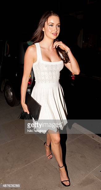 Emma Miller is seen arriving at The Chiltern Firehouse on April 30 2014 in London England