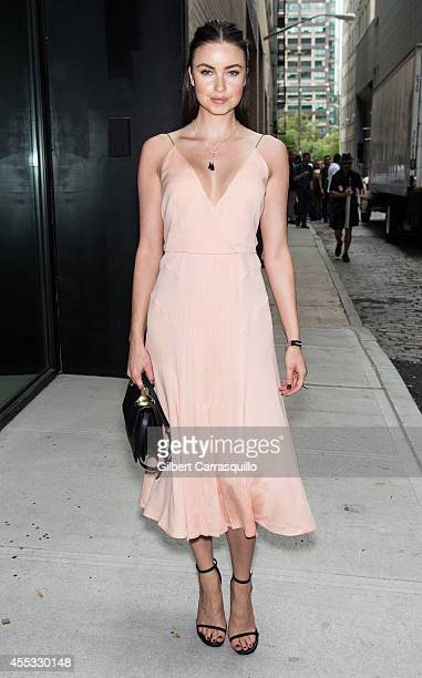Emma Miller is seen at the Calvin Klein Spring Summer 2015 fashion show during New York Fashion Week at Spring Studios on September 11 2014 in New...
