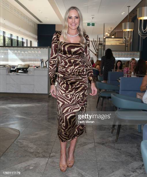 Emma Milner attends the Puttin' On the Ritz fundraiser for Cancer Council WA at the Hearth Restaurant at the Ritz Carlton Hotel on August 1 2020 in...