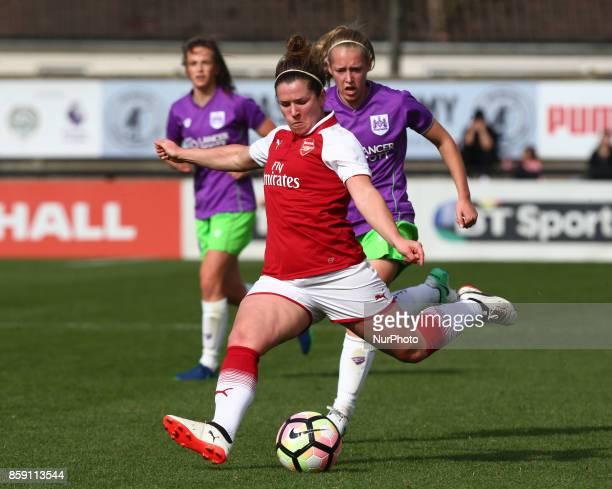 Emma Mitchell of Arsenal during Women's Super League 1match between Arsenal against Bristol City Women at Meadow Park Borehamwood FC on 08 Oct 2017