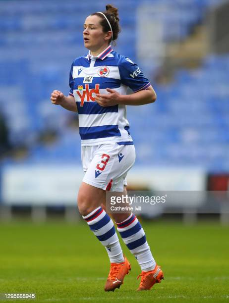 Emma Mitchell of Reading during the Barclays FA Women's Super League match between Reading Women and Chelsea Women at Madejski Stadium on January 10,...