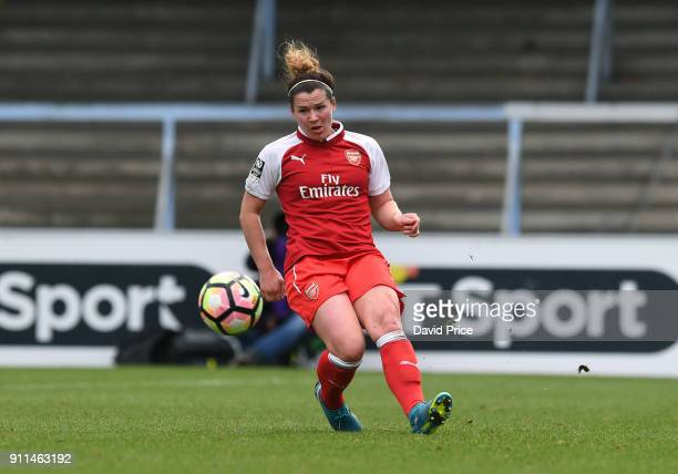 Emma Mitchell of the Arsenal Women during the match between Reading FC Women and Arsenal Women at Adams Park on January 28 2018 in High Wycombe...