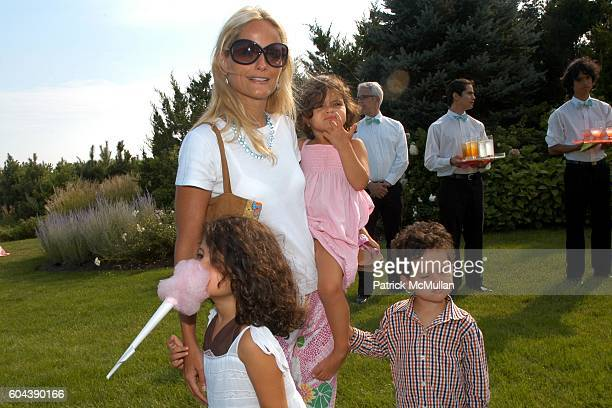 Emma Mnuchin, Heather Mnuchin, Dylan Mnuchin and Player Mnuchin attend LILLY PULITZER and James Bradbeer, Jr. Host a Family Tea Party in Honor of THE...