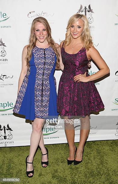 Emma Myles and Nastia Liukin attends the Simple Skincare & Caravan Stylist Studio Fashion Week Event on September 7, 2014 in New York City.