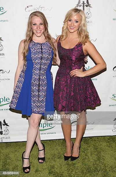 Emma Myles and Nastia Liukin attends the Simple Skincare Caravan Stylist Studio Fashion Week Event on September 7 2014 in New York City