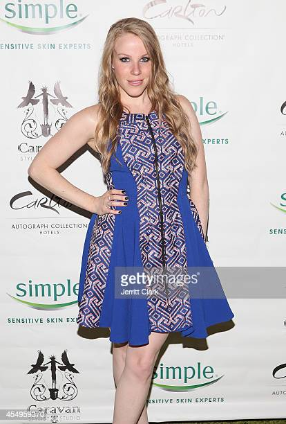 Emma Myles attends the Simple Skincare Caravan Stylist Studio Fashion Week Event on September 7 2014 in New York City