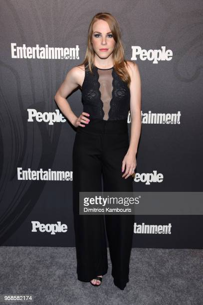 Emma Myles of Orange is The New Black attends Entertainment Weekly PEOPLE New York Upfronts celebration at The Bowery Hotel on May 14 2018 in New...