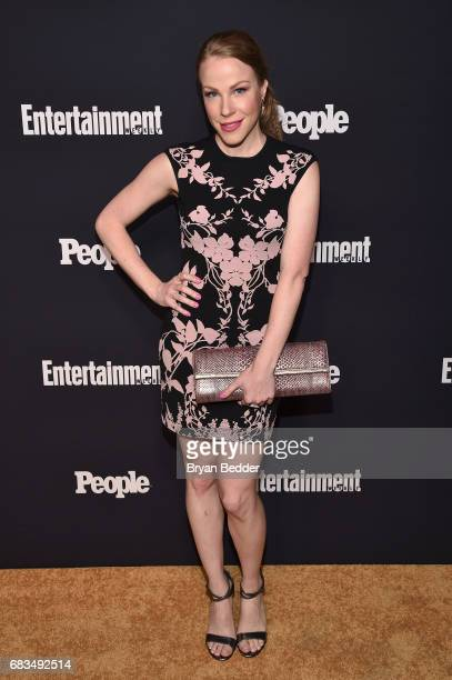 Emma Myles of Orange Is The New Black attends the Entertainment Weekly and PEOPLE Upfronts party presented by Netflix and Terra Chips at Second Floor...