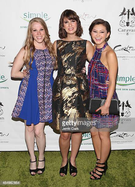 Emma Myles Risa Sarachan and Kimiko Glenn attend the Simple Skincare Caravan Stylist Studio Fashion Week Event on September 7 2014 in New York City