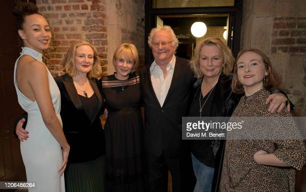 Emma Naomi Lucy Robinson Lisa Dillon Sir Richard Eyre Jennifer Saunders and Rose Wardlaw attend the press night after party for Blithe Spirit at The...