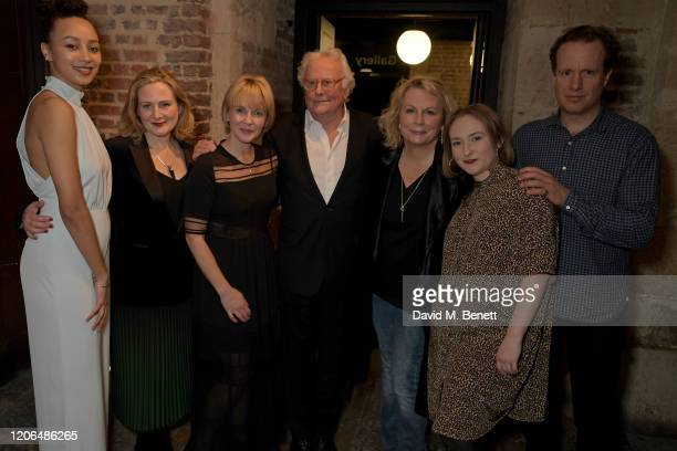 Emma Naomi Lucy Robinson Lisa Dillon Sir Richard Eyre Jennifer Saunders Rose Wardlaw and Geoffrey Streatfeild attend the press night after party for...