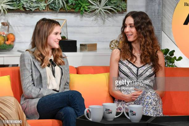 Emma Nelson and Troian Bellisario at BuzzFeed's AM to DM on August 13 2019 in New York City