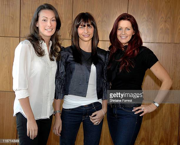 Emma Neville Stacey Giggs and Leanne Brown attend Julie Neville's Afternoon Tea Party at Cloud 23 bar Hilton Hotel on February 18 2008 in Manchester...