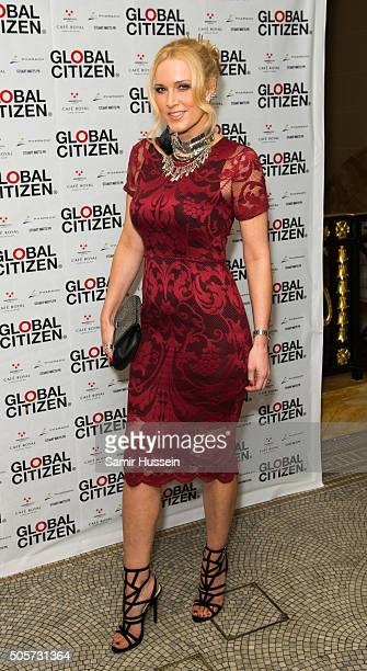 Emma Noble attends the Global Citizen dinner at Cafe Royal Hotel on January 19 2016 in London England