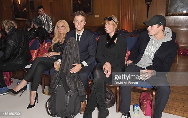 Emma Noble Dan Olsen Anna Winslet and Luke Stevens attend the Sorapol Spring/Summer 2016 London Fashion Week Show at The Royal College of Surgeons on...
