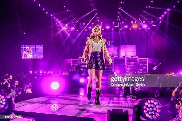 Emma performs on stage at Mediolanum Forum on February 26, 2019 in Milan, Italy.