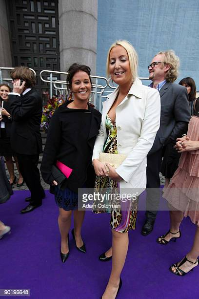 Emma Pernald and friend attend the Polar Music Prize 2009 on August 31 2009 in Stockholm Sweden
