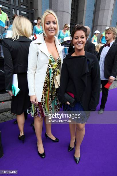 Emma Pernald and guest attend the Polar Music Prize 2009 on August 31 2009 in Stockholm Sweden