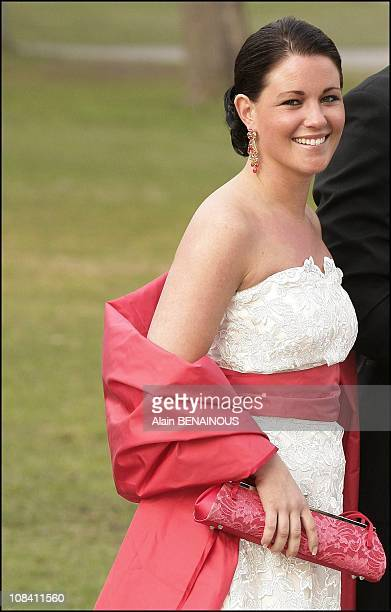 Emma Pernald, girlfriend of Karl Philip of Sweden in Stockholm, Sweden on April 29, 2006.