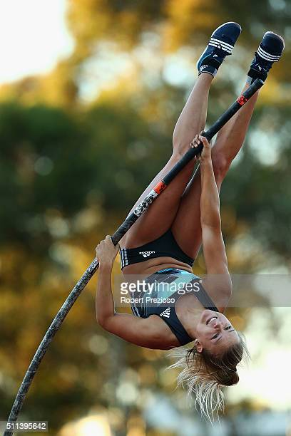 Emma Phillipe of WAIS competes in Women's Pole Vault during the Adelaide Track Classic on February 20, 2016 in Adelaide, Australia.