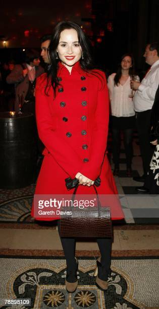 Emma Pierson attends the after party for the UK film premiere of 'Sweeney Todd' at the Royal Courts of Justice in the Aldwych on January 10 2008 in...