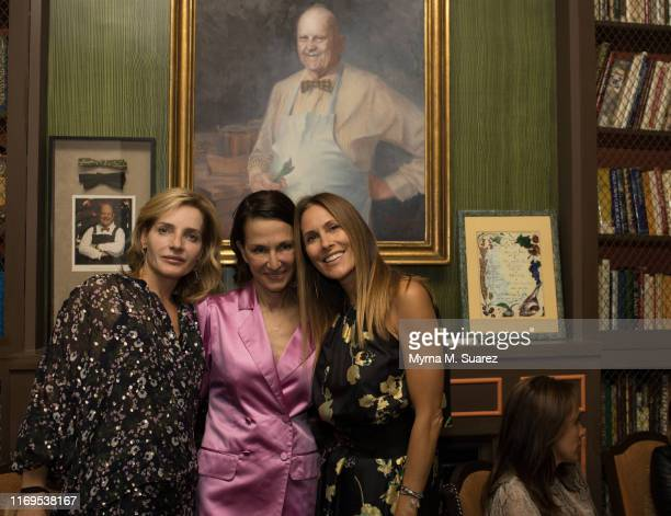 Emma Pilkington Cyntha Rowley and Cristina Cuomo attend the Plant Miami Rudd Wines Dinner at the James Beard House on September 18 2019 in New York...