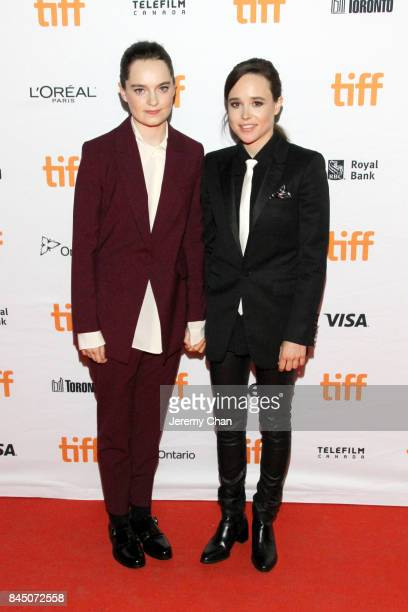 Emma Portner and Ellen Page attend The Cured premiere during the 2017 Toronto International Film Festival at Ryerson Theatre on September 9 2017 in...