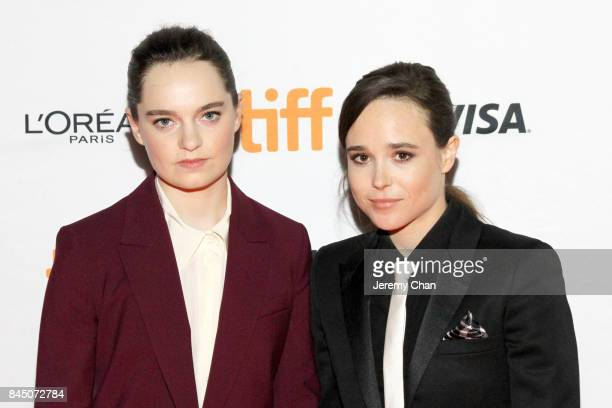"Emma Portner and Ellen Page attend ""The Cured"" premiere during the 2017 Toronto International Film Festival at Ryerson Theatre on September 9, 2017..."