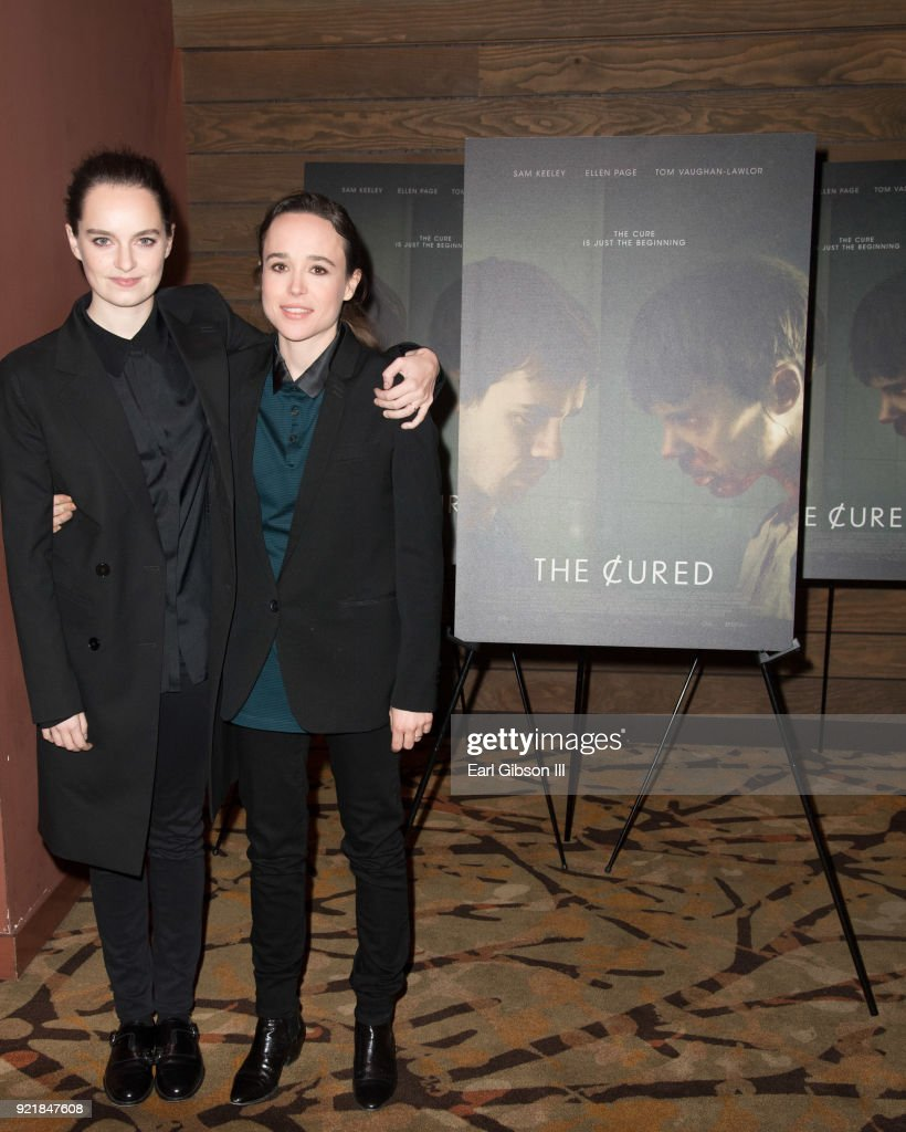 Emma Portner and Ellen Page attend the screening of IFC Films 'The Cured' at AMC Dine-In Sunset 5 on February 20, 2018 in Los Angeles, California.