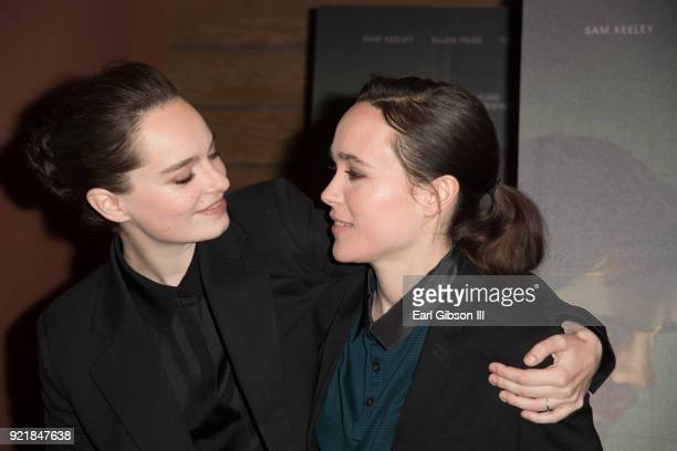 Emma Portner and Ellen Page attend the screening of IFC Films The Cured at AMC DineIn Sunset 5 on February 20 2018 in Los Angeles California