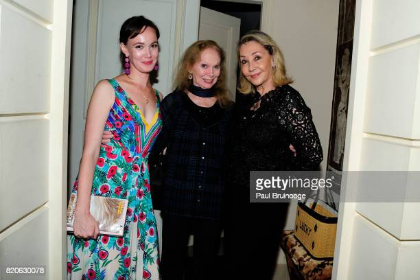 Emma Powers Allegra Kent and Susan Gutfreund attend Youth America Grand Prix Jewels 50th Anniversary Celebration at Home of Susan Gutfreund on July...
